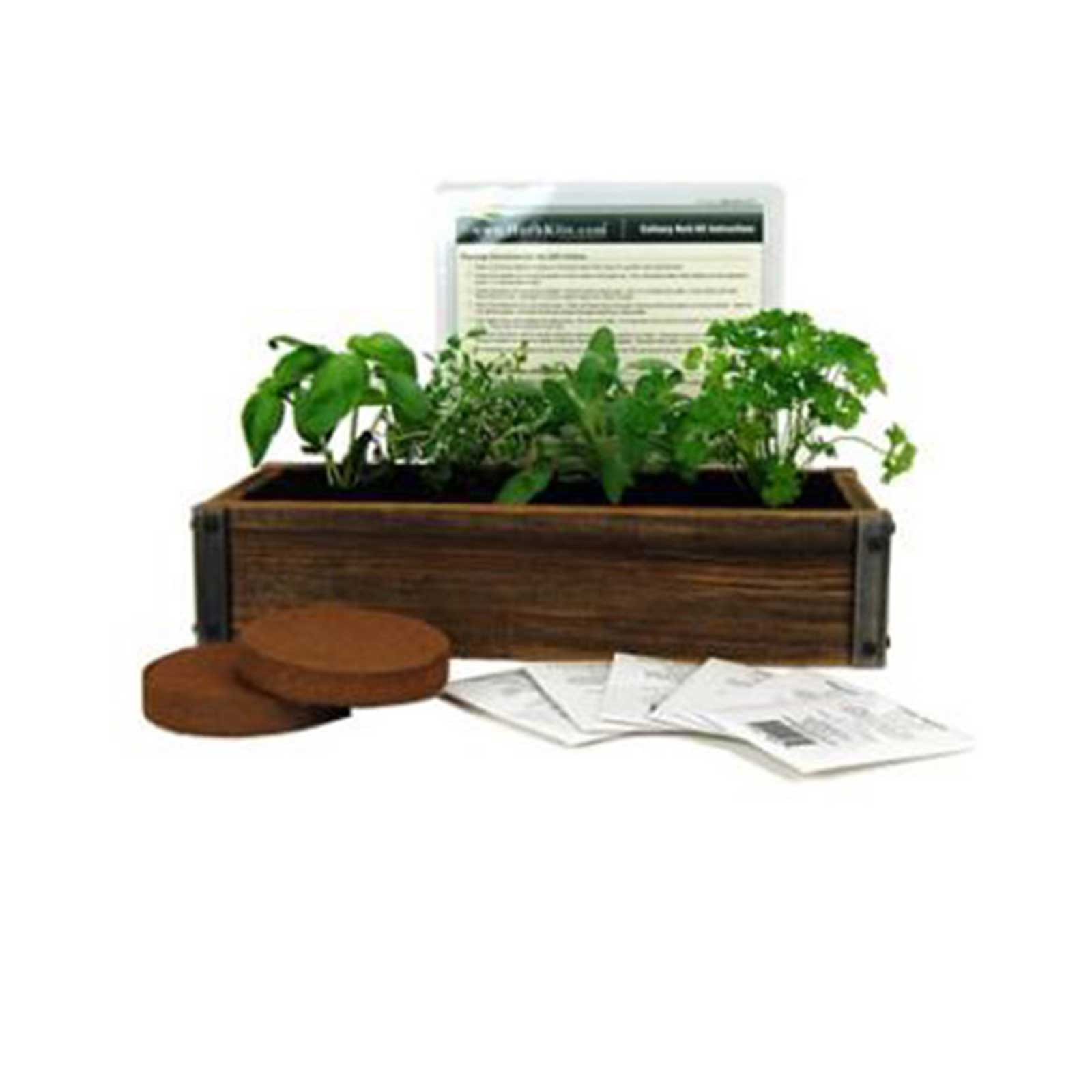 Grow Your Own Culinary Herbs Right In Your Own Kitchen With This Rustic  Planter Box Made From Reclaimed Barn Wood. Complete Kit Includes Barnwood  Planter, ...